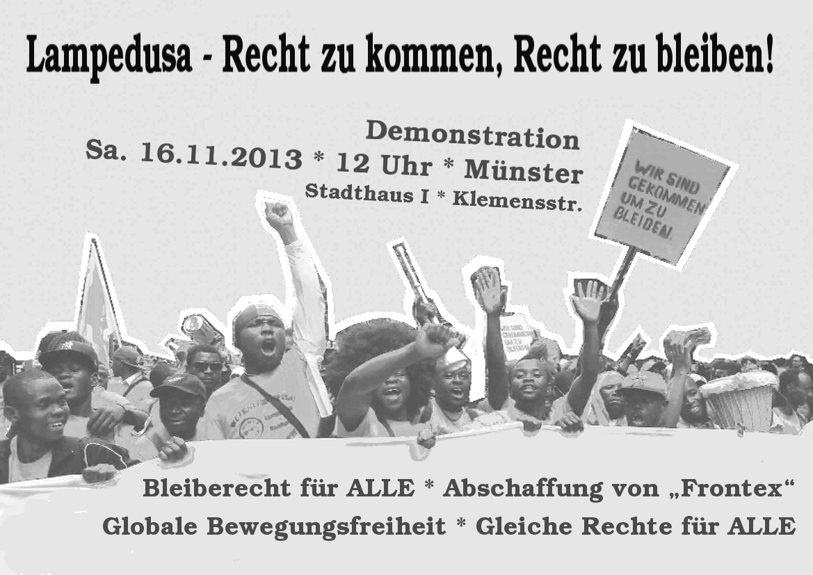 DEMONSTRATION am 16.11.2013 in M�NSTER
